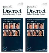 2 BOXES of Restoria Discreet Colour Restoring Cream 250ml