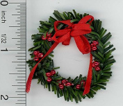 Dollhouse Miniature Artisan Holiday Wreath