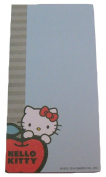Hello Kitty Magnetic List Pad ~ Kitty Peeking from Behind Apple on Blue