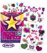 Savvi Rocker Rock Star Tattoos for Girls ~ 50 Temporary Tattoos