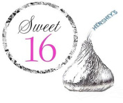 Cakesupplyshop Item#4366y - 216 Sweet 16 Birthday Party Favour Hershey's Kisses Stickers / Labels