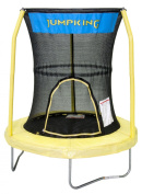 JumpKing Bazoongi Trampoline with 3 Poles Enclosure System, 140cm , Yellow