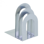 STEELMASTER Deluxe Bookend Sorter, Curved, 8.06 x 18cm x 13cm , Silver