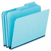 Pendaflex Pressboard Expanding File Folders, Straight Cut, Top Tab, Letter Size, Blue, 25 per Box