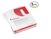 5 PACKS of Universal 21126 Top-Load Poly Sheet Protectors, Std Gauge, Nonglare, Clear, 50/Box