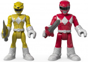 Fisher-Price Imaginext Power Rangers Red Ranger & Yellow Ranger Figures