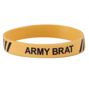 Army Silicone Wristband - Yellow W01S43F