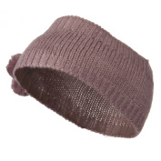 Knit Headband with 3 Pom Pom - Mauve W03S22C