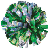 2 Colour Holographic Mix Cheer Pom