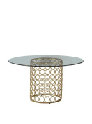 Bassett Mirror Carnaby Dining Table, Gold
