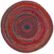 Home Furnishings by Larry Traverso Carnivale Braided Rug, 0.9m Round