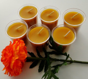 BCandle 100% Beeswax 15-hour Candles Organic Hand Made - 5.1cm Tall, 1 1/2 Thick