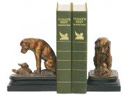 Sterling Home 91-1452 Pair of Bookends, Turtle Under Study By Labrador Dog, 15cm Tall