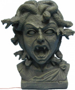 Animated Medusa Bust w/ Light Up Eyes Standard