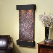 Adagio Whispering Creek Fountain w/ Rajah Natural Slate in Blackened Copper Finish