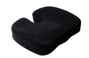 Memory Foam Seat Cushion - Aeris Chair Pad with Luxury Velour Cover