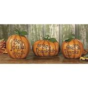 Carved Thanksgiving Pumpkin Set - Decorative Accessories