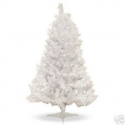 1.2m Pre-Lit Clear White Indiana Spruce Artificial Christmas Tree