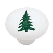 Woodland Pine Tree Silhouette Decorative High Gloss Ceramic Drawer Knob