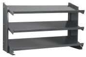 Akro-Mils APRBENCH 3 Shelf Powder Coated Steel Single Sided Pick Bench Rack, 30cm Deep by 90cm Wide by 50cm High