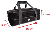 Hoopla Gorilla Bags - Deluxe Expandable Double Layered Insulated Food Carrier with Easy Carry Handle - Extra Large - Black and Grey