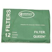 CONE, FILTER QUEEN 12PK W/2 DISC FILTERS PAPER BAG
