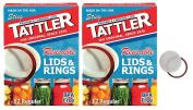 Tattler Reusable Regular Size Canning Lids 12 count - 2 Pack