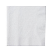 Beverage Napkin 1 Ply 9 1/2 x 9 1/2 White 4000 CT