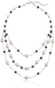 Bella Pearl Triple Low Line Necklace, 60cm