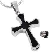 Black Cross Cremation Pendant By Casket Etcetera