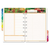 DayTimer Garden Path Daily Planner Refill 2015, 14cm x 22cm Page Size