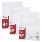 Mead Filler Paper, Loose Leaf Paper, Wide Ruled, 200 Sheets, 3 Packs