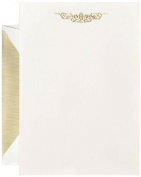 Crane & Co. Hand Engraved Botanical Swag Half Sheet