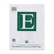 Roaring Spring Engineering Pad, 22cm x 28cm , Green, 100 Sheets, Grid-to-Edge