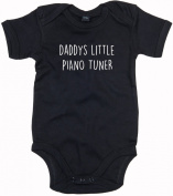 Piano Tuner Baby Body Suit Daddys little Newborn Babygrow Black with White Print 0-3 months