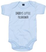 Fashioner Baby Body Suit Daddys little Newborn Babygrow Blue with Black Print 9-12 months