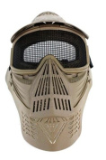 AMA Complete Protection Wire Mesh Airsoft Face Mask - TAN