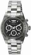 Invicta Speedway Men's Quartz Watch with Textured Dial Chronograph Display and Stainless Steel Bracelet in Stainless Steel Case
