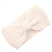 JTC Women's Niblet Knitted Winter Headband Off-white