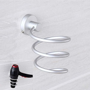 BESTIM INCUK Wall Mount Spiral Hair Dryer Holder Bathroom Accessories Set