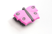 V7 Butterfly Clothes Brush 9 x 6 cm, Pink
