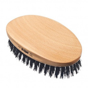 Kent PF22 (formerly Kent NSM01) Oval, Beech Wood, Pure Natural Bristle Hairbrush for Men by Kent
