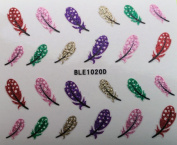 Nail Art 3D Glitter Stickers - Feathers 1020