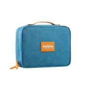 imblu Multi-Functional Waterproof (Tyvek) Travel Accessories Cosmetic Makeup Toiletry Bag Organiser Pouch, Large, Blue