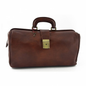 Doctor Leather Bag Brown - Genuine Leather Bags Made In Italy - Business Bag