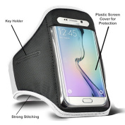 TypeandColor® Sports Running Adjustable Armband For Samsung Galaxy S5 i9600 / Galaxy S6 S6 Edge Phone Case Cover Pouch Sleeve Gym Exercise Key Holder
