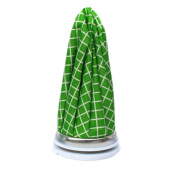 Cute Ice Bag For Hot and Cold Treatments, Green Grid