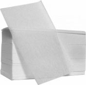 Fripac-Medis Fleece End Paper, White - Pack of 500 Sheets