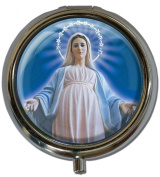 """Pillbox in a round shape """"Virgin Mary"""""""