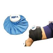 Koolpak Premium Reusable Ice Bag & Neoprene hook and loop Cold Compress Knee Leg Wrap